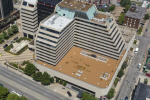 Loews Vanderbilt roof in downtown Nashville, TN