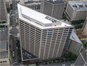 Bank of America roof in Nashville, installed by Maxwell Roofing