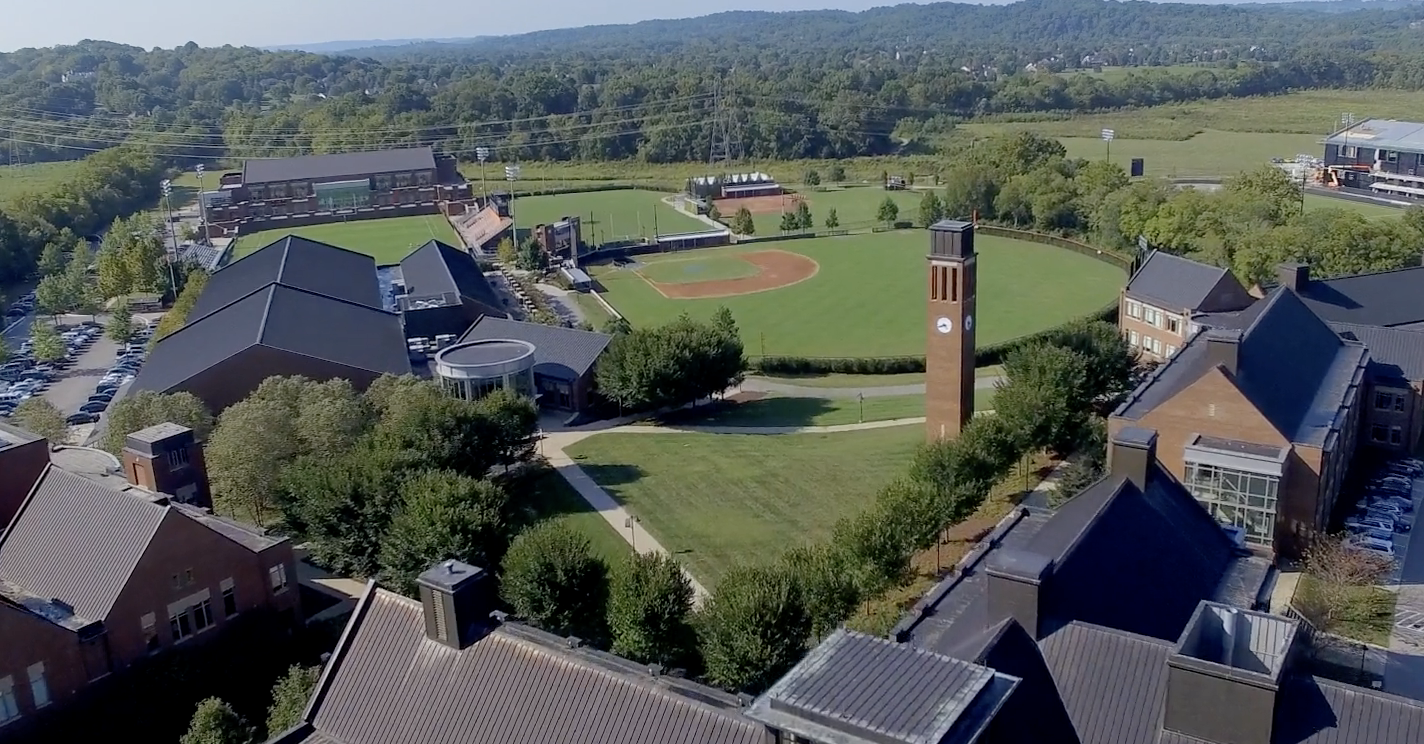 aerial shot of ensworth school in Nashville for Maxwell Roofing's client spotlight