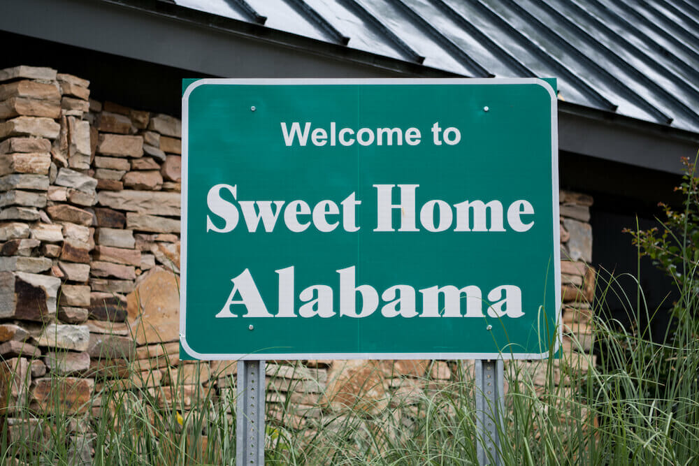 Green Welcome to Sweet Home Alabama Street Sign