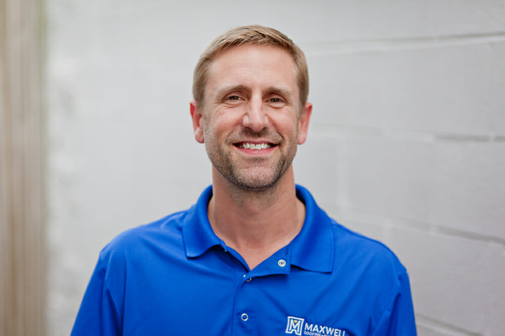 headshot of David Maxwell, Vice President of Services at Maxwell Roofing