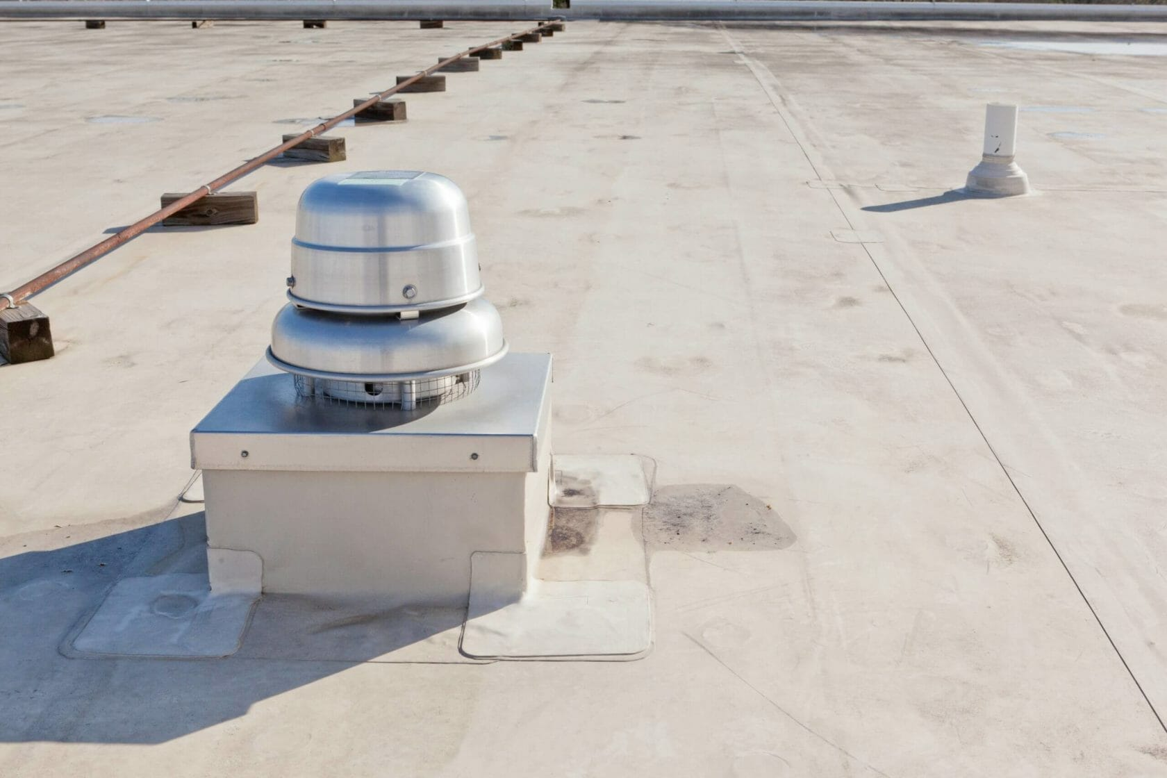 rooftop diffuser on a commercial roof
