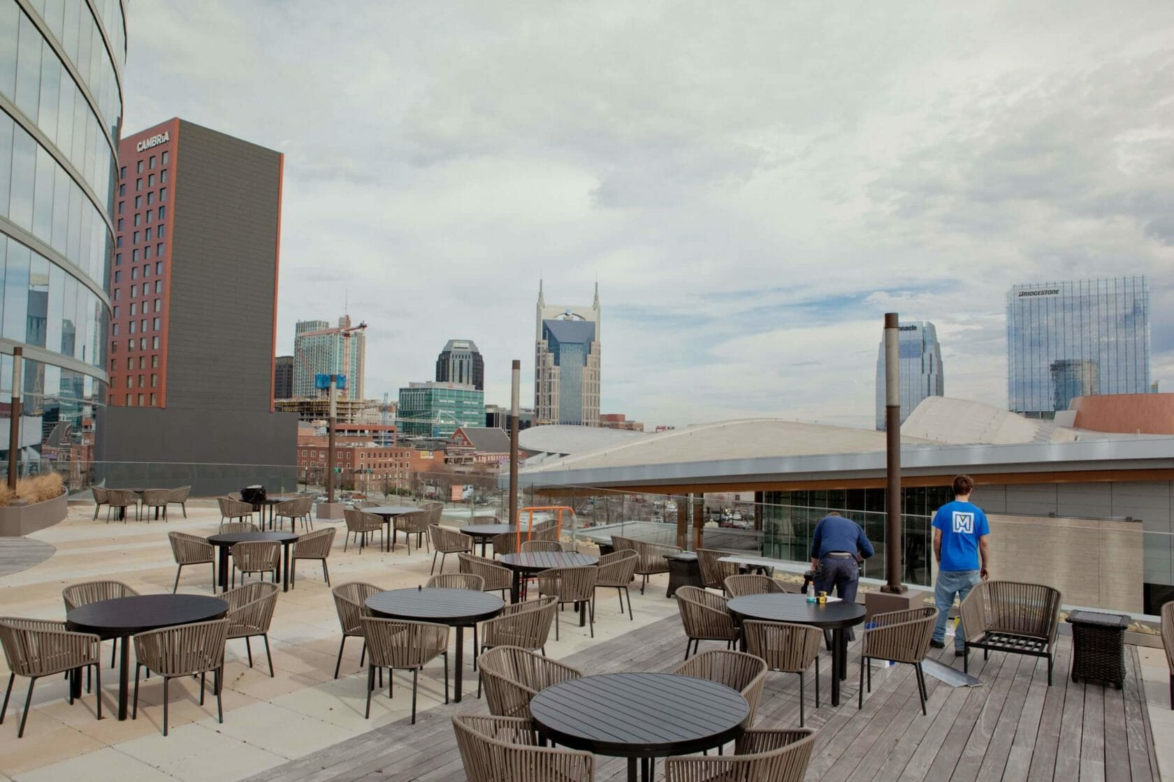 rooftop bar on broadway in Nashville