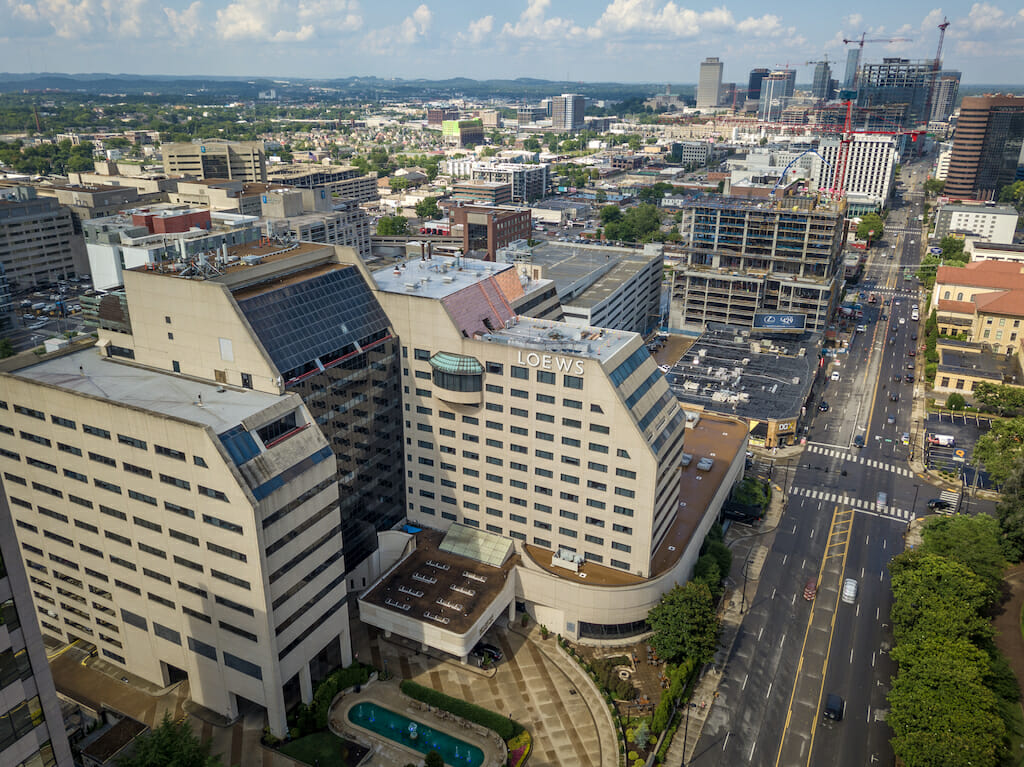 aerial-view-of-leows-hotel-in-nashville