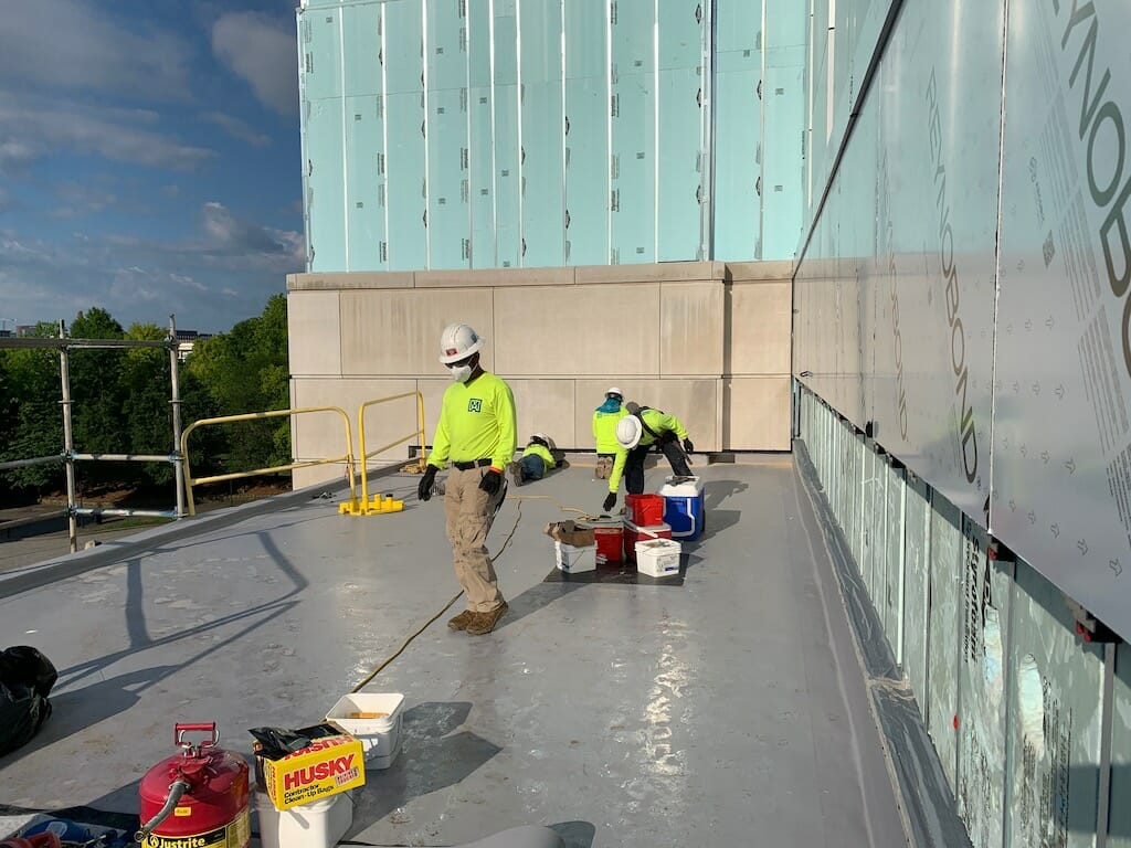 Maxwell-Roofing-Workers-Practicing-Safety